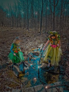 It is during these twilight hours of enchantment when starlight frop from the sky. Floating down the stream of dreams captured by the fairies creating powerful wands.